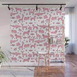 valentines animals nature sharks giraffe deer cats nursery love hearts Wall Mural