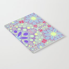Hippy Circles And Flowers Notebook