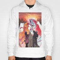 tigers Hoodies featuring DUELING TIGERS by ArtBattles