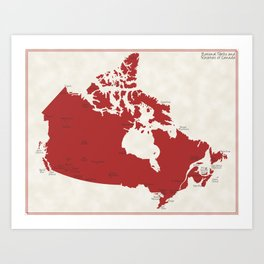 National Parks and Reservoirs of Canada Art Print