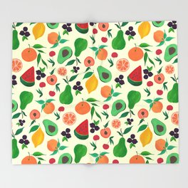 Eat your fruits! Throw Blanket