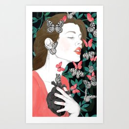Butterflies // you make my heart flutter Art Print