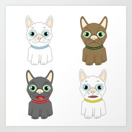 The Many Expressions of Dogs Art Print