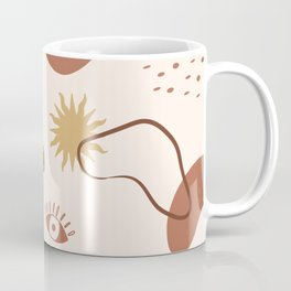 Abstract Shapes and Mystical elements Pattern Coffee Mug