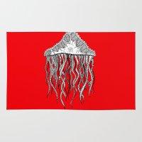 jellyfish Area & Throw Rugs featuring JellyFish by lush tart