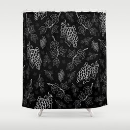 Grape background Shower Curtain