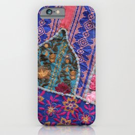 India Patchwork graphic violet iPhone Case
