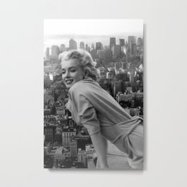Marylin Monroe and Elvis Presley Framed Print Metal Print