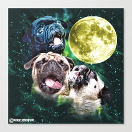 Howl at the Moon Pug Canvas Print