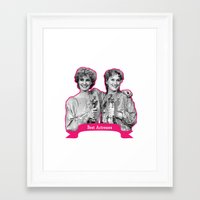 jessica lange Framed Art Prints featuring Jessica Lange and Meryl Streep by BeeJL