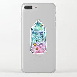 Fluorite Crystal Point Clear iPhone Case