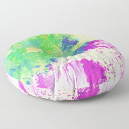 Love Colour (Abstract, colourful painting) Floor Pillow