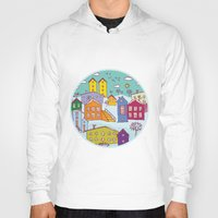 cityscape Hoodies featuring Cityscape Sketch by EkaterinaP