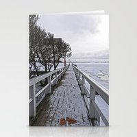 finland Stationery Cards featuring Frozen Finland by Chema G. Baena Art