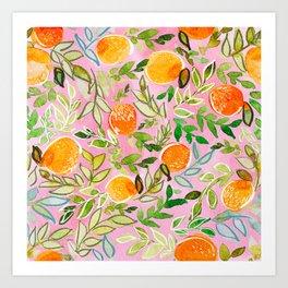 Pink Citrus Art Print