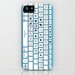 Photoshop Keyboard Shortcuts Blue iPhone Case