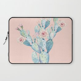 Rose Desert Cactus on Pink by Nature Magick Laptop Sleeve