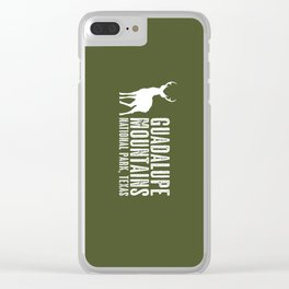 Deer: Guadalupe Mountains, Texas Clear iPhone Case