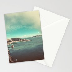 Ocean Coast - Sea Water at San Francisco Bay from Golden Gate Bridge Stationery Cards