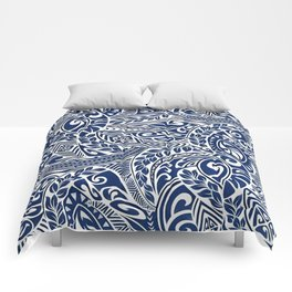 Hawaiian tribal pattern III Comforters