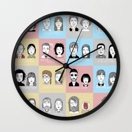 Sad Movie Couples Wall Clock