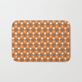 Reception retro geometric pattern Bath Mat
