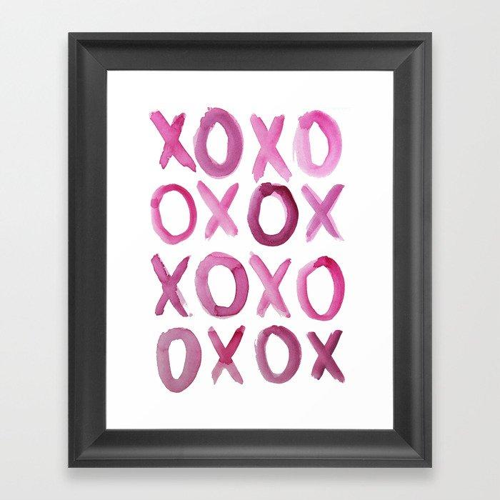 XOXO Gerahmter Kunstdruck