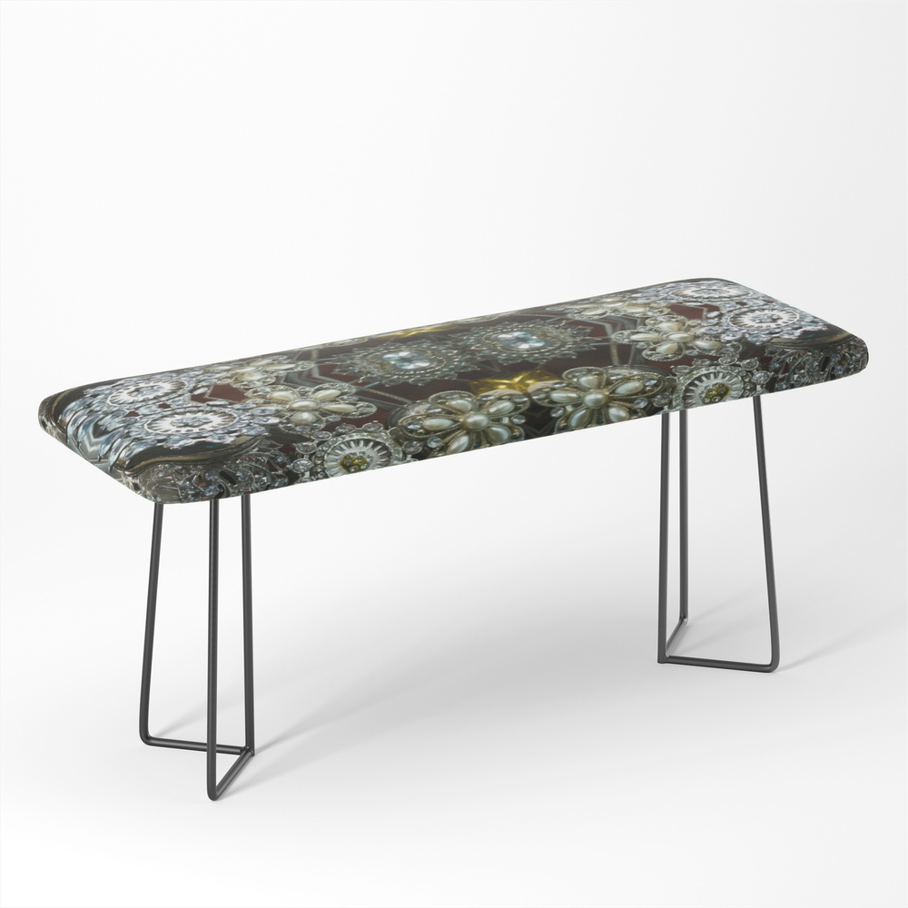 Rustic Ornament Spinner Bench by stora