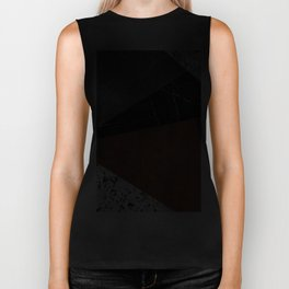 Marble, Granite, Rusted Iron Abstract Biker Tank