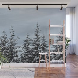 Winter Wanderlust Woods IV - Snow Capped Forest Nature Photography Wall Mural
