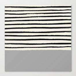 Storm Grey x Stripes Canvas Print