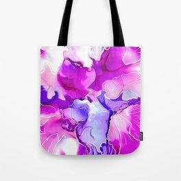 Purple Posies Tote Bag