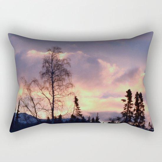 Rose Serenity Sky Rectangular Pillow