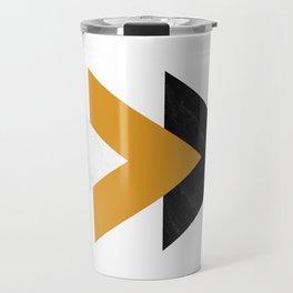 Forward marble yellow arrows Travel Mug