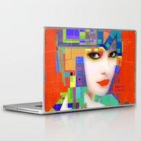 nouveau Laptop & iPad Skins featuring Nouveau Girl 2 by Steve W Schwartz Art