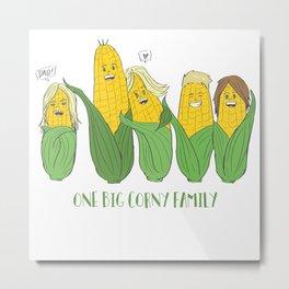 One Big Corny Family Metal Print