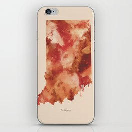 Indiana Watercolor State iPhone Skin
