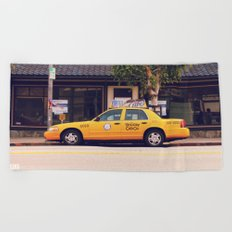 Yellow Cab Co ∫ Living Los Angeles Beach Towel