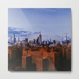 New York City // Retro 55 Metal Print