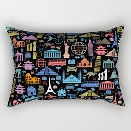 LET'S TRAVEL AROUND THE WORLD!!! Rectangular Pillow