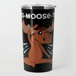 Moose Yoga Design: Baaa Maste I Namaste I Inner Peace I Yogi Travel Mug