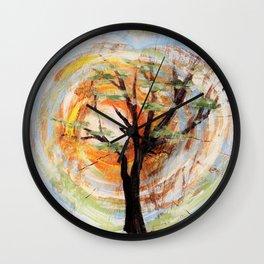 Tree on Tree Wall Clock