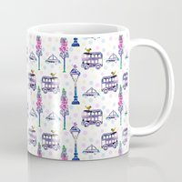 water colour Mugs featuring vintage water colour pattern by mimi betz