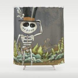 Howdy Halloweeeeen Shower Curtain