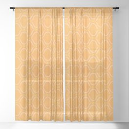 Mediterranean Print - Sunshine Yellow Palette Sheer Curtain