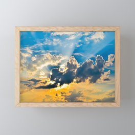 Fire In The Sky | Musical Crime Productions | Unique Photography of Nature Framed Mini Art Print