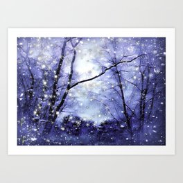 The Magic Of Winter Evening Art Print