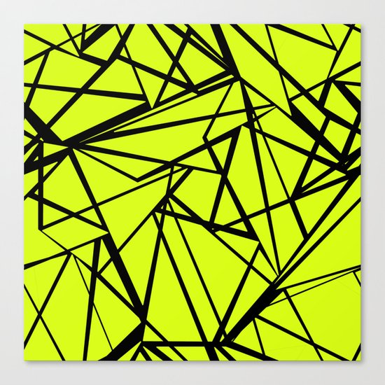 An abstract geometric pattern . Yellow green pattern . Canvas Print