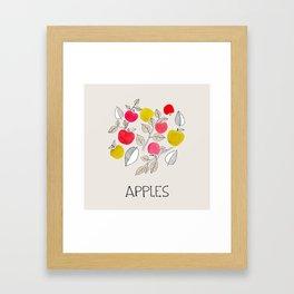 Apples. Kitchen artwork Framed Art Print