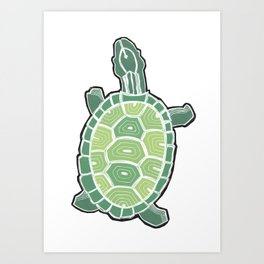Turtle in color Art Print
